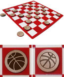 Basketball Checkers Set