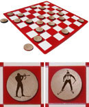 Biathlon Checkers Set