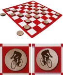 Cycling Checkers Set