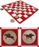 Horseback Riding Checkers Set