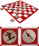 Snowboarding Checkers Set