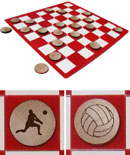 Volleyball Checkers Sets