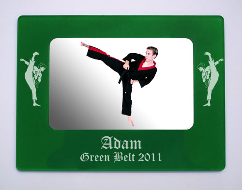 Personalized Karate Magnetic Photo Frames - Custom Martial Arts Gift Items - Made in USA Gifts