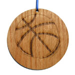 Basketball Laser-Etched Ornaments