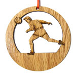 Soccer Laser-Etched Ornaments